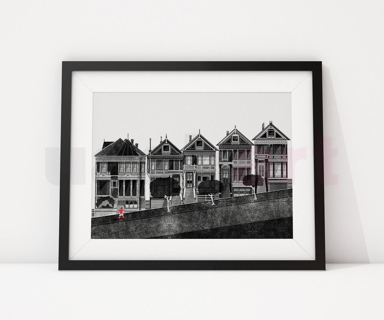 Illustrazione stampa San Francisco